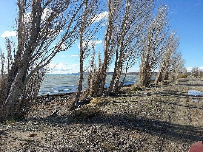Lago musters sarmiento for Ruta0 buscador de rutas